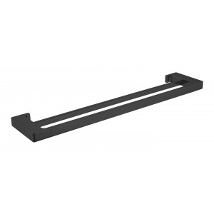 Raven double towel rail, 800mm, Matt black