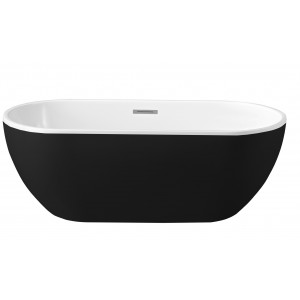 BRUSSEL 1500 freestanding bath black
