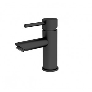 ORB inset basin mixer matt black
