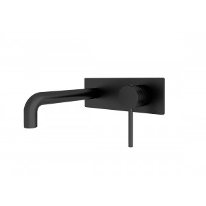 ORB  wall spout & mixer combination black
